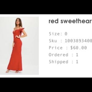 Beautiful red dress! Worn once